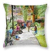 Place Dauphine Throw Pillow