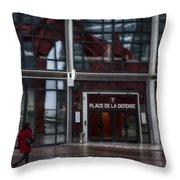 Place De La Defense Throw Pillow