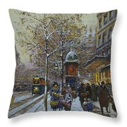 Place De La Republique Paris Throw Pillow by Eugene Galien-Laloue