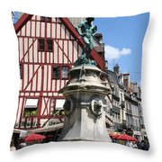 Place Francois Rude - Dijon Throw Pillow