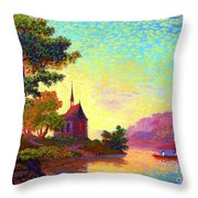 Beautiful Church, Place Of Welcome Throw Pillow