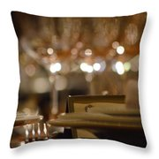 Place Setting 1 Throw Pillow
