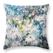 Place Where The Flowers Bloom Forever Throw Pillow