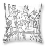 Plague, 1500 Throw Pillow