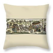 Plague Of London Throw Pillow