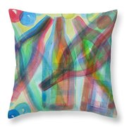 Plaid Wine Throw Pillow by Diane Pape