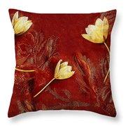 Plain Flowers Pop Art Throw Pillow