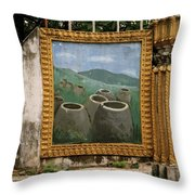 Plain Of Jars Throw Pillow