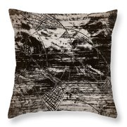 Playing With Birds Throw Pillow