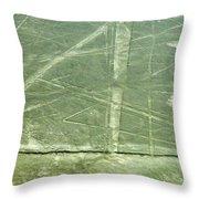 Plains Of Nazca - Spider Throw Pillow