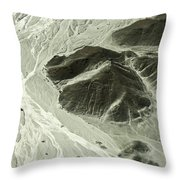 Plains Of Nazca - The Astronaut Throw Pillow