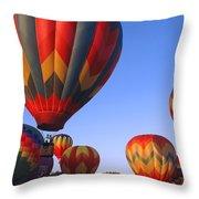 Plainville Hot Air Balloon Fesitval Throw Pillow
