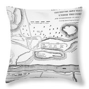 Plan Of The Battle Of Saratoga October 1777 Throw Pillow