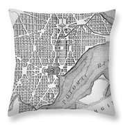 Plan Of The City Of Washington As Originally Laid Out In 1793 Throw Pillow