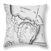 Plan Of West Point Throw Pillow