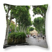 Plane Alley - Aix En Provence Throw Pillow