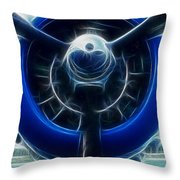 Plane Blue Prop Throw Pillow by Paul Ward