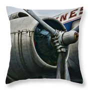 Plane Check Your Engine Throw Pillow