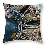 Plane Engine Close Up Throw Pillow