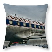Plane Fly Eastern Air Lines Throw Pillow