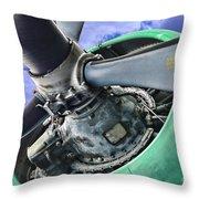 Plane Green Prop Throw Pillow