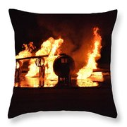 Plane Heats Up Throw Pillow