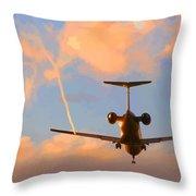 Plane Landing Throw Pillow