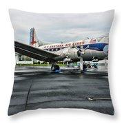 Plane On The Tarmac Throw Pillow