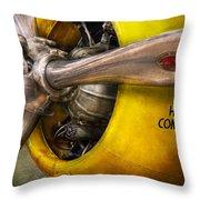 Plane - Pilot - Prop - Twin Wasp Throw Pillow