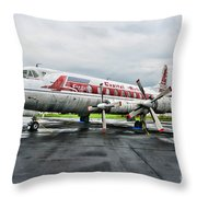 Plane Props On Capital Airlines Throw Pillow