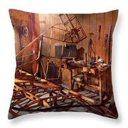 Plane - The Dawn Of Aviation Throw Pillow by Mike Savad
