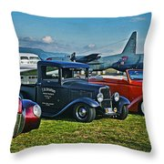 Planes And Cars Throw Pillow