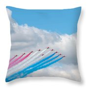 Planes Fly In Airshow Throw Pillow