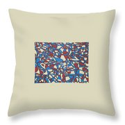 Planet Abstract Throw Pillow