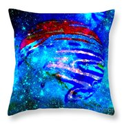 Planet Disector Blue/red Throw Pillow