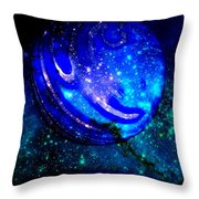 Planet Disector Reflected Throw Pillow
