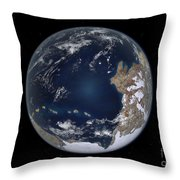 Planet Earth 600 Million Years Ago Throw Pillow