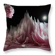 Planet Peony  Throw Pillow