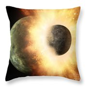 Planetary Demolition Derby  Throw Pillow