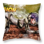 Planetary Invasion Throw Pillow by Pete Tapang