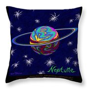Planets 7 8 9 - Science Throw Pillow