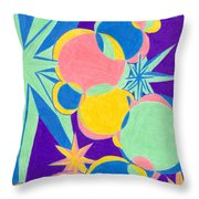 Planets And Stars Throw Pillow