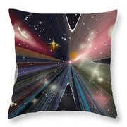 Planets Dancing Throw Pillow