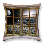 Planetscape Throw Pillow