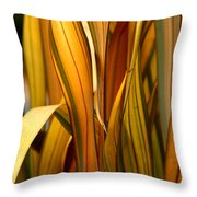 Plant In Yellow And Green Throw Pillow
