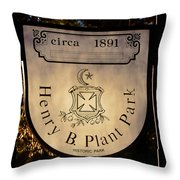 Plant Park Since 1891 Throw Pillow