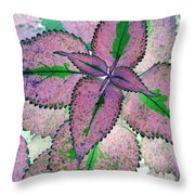 Plant Pattern - Photopower 1211 Throw Pillow