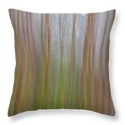 Plant Stem Sweep Throw Pillow
