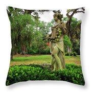 Plantation Garden New Orleans  Throw Pillow