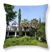 Plantation Home At Magnolia Plantation Throw Pillow